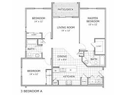Bedroom Floor Plan Apartment Springfield Mo Coryell Courts