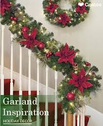 Banister Christmas Garland Best 25 Banister Christmas Decorations Ideas On Pinterest