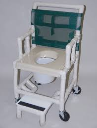 shower chair deluxe drop arm vacuum seat footrest with wheels
