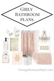 girly shabby chic glam bathroom plans vintage romance style