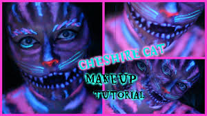 cheshire cat black light makeup tutorial youtube