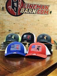 Lineman Barn Decals Patriot Lineman Hat Fitted