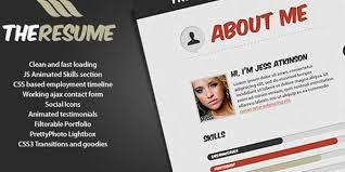 Free Resume Templates Design 40 Premium And Free Resume Templates Web Design Burn