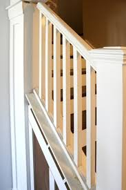 Banister Meaning Beautiful Budget Stair Remodel From Carpet To Wood Treads