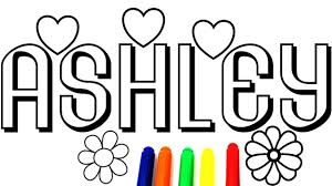 coloring name ashley coloring book coloring pages fun art