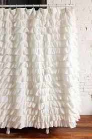 Ruffled Curtains Nursery by Interior Ruffle Blackout Curtains White Curtians White Ruffle