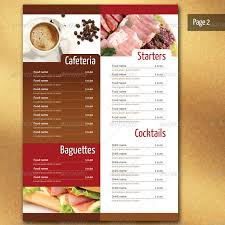 restaurant menu design templates typography menu design template