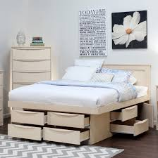 Diy Platform Bed With Storage Drawers by Platform Storage Bed Queen Cherry Queen Mateu0027s Platform