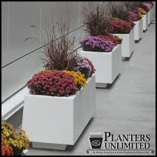 large commercial fiberglass planters stock or custom sizes and colors