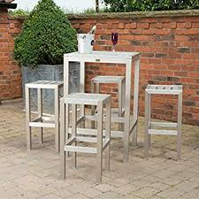metal bar table set metal outdoor bar set garden square bar table and 4 stools