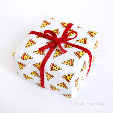 gift wrap pizza gift wrap julie
