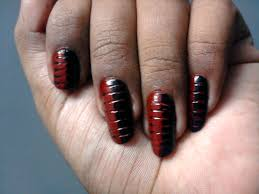 polish corner abinaya4m red and black drag nail art