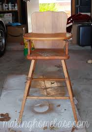 Vintage Wooden Chair Wooden High Chair With Annie Sloan Chalk Paint