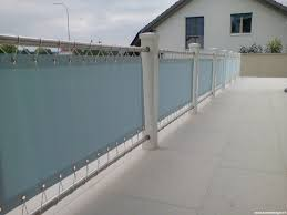 balkon abdeckung sicht windschutz