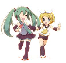 images of hatsune miku and rin sc