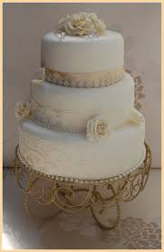 wedding cake lace white and champagne vintage wedding cake lace diamante tri flickr