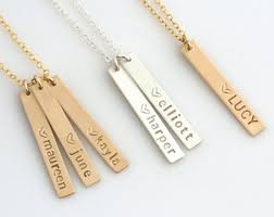 Mothers Necklaces With Children S Names Jewelry Etsy