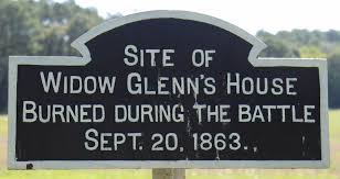widow glenn u0027s house site historical marker