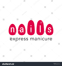 nails salon vector logo icon emblem stock vector 429265105