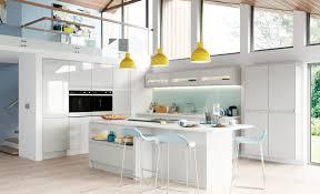 White Grey Kitchen Strada Gloss Modern Light Grey Kitchen Stori