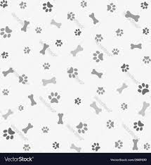 background with dog paw print and bone royalty free vector