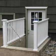 Replacing A Basement Window by Basement Egress Window With Wrought Iron Gate Black Basement