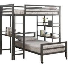 myrtle twin loft bed with desk wayfair