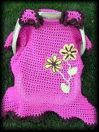 Pink Car Seat Canopy by Spring Flowers Baby Blanket Car Seat Canopy