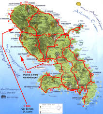 Saint Lucia Map Weltrekordreise Nord Amerika Karibik Martinique Fort De France