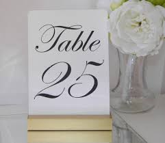table number card holders gold table number holder gallery360 designs