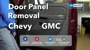 how to install replace remove a door panel chevy silverado gmc