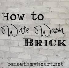 how to white wash brick bathroom update exposed brick bricks
