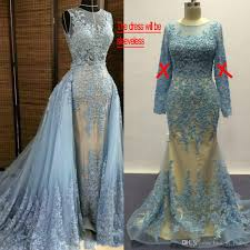 blue wedding dresses 2017 over lining real images crew