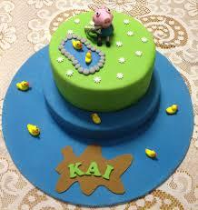 peppa pig george pig childrens birthday cake cakecentral com