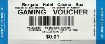 borgata hotel casino gaming voucher atlantic city money ticket