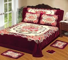 bed sheet quality 100 polyester korean raschel quality embossed blanket bed sheet