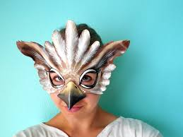 owl mask owl halloween mask animal mask leather mask