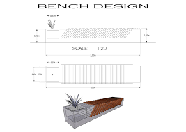 concrete bench design detail drawing crazy creations