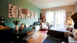 Decorating Ideas For Small Apartment Living Rooms Studio Apartment Decorating On A Budget Youtube