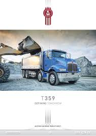 kenworth models australia kenworth t359 defining tomorrow hallamtruck brochure