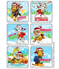 christmas stickers paw patrol christmas pups stickers kids stickers from medibadge
