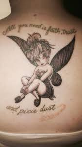 tinkerbell tattoo disney cool tattoos pinterest