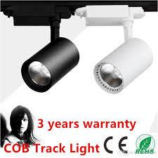 Led Ceiling Track Lights Led Rail Lighting 20w 30w Cob Led Track Light Black White Shell