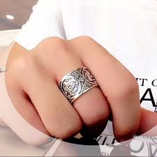 vintage sterling rings images Sterling silver 925 ring men vintage men rings 4 creatures dragon jpg