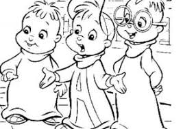 alvin chipmunks coloring pages coloring4free