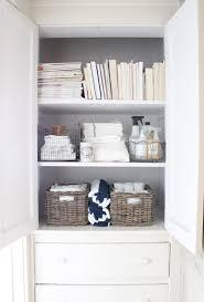 storage unit with wicker baskets storage u0026 organization attractive white linen closet organization