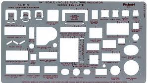 Pickett 111Pi House Furniture Interior Design Drafting Template