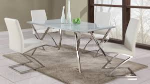 Glass Top Dining Room Table And Chairs by Jade 5pc Modern Dining Set W Starphire Glass Top