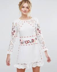 rd u0026 koko rd u0026 koko long sleeve skater dress with embroidered