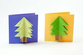 easy origami tree card tutorial